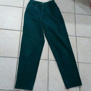 Vintage High Waisted Forest Green Jeans